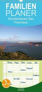 Wunderbares San Francisco - Familienplaner hoch (Wandkalender 20
