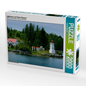 Lighthouse am Fisher Channel 2000 Teile Puzzle quer