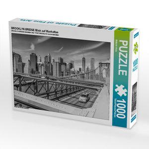 CALVENDO Puzzle BROOKLYN BRIDGE Blick auf Manhattan 1000 Teile L