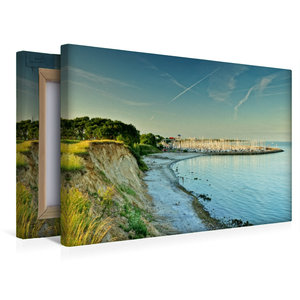 Premium Textil-Leinwand 45 cm x 30 cm quer Steilküste