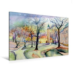 Premium Textil-Leinwand 120 cm x 80 cm quer Schloss Lützen