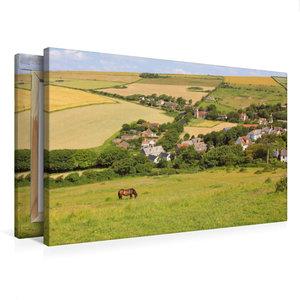 Premium Textil-Leinwand 75 cm x 50 cm quer West Lulworth Dorset