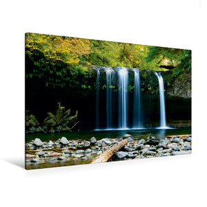 Premium Textil-Leinwand 120 cm x 80 cm quer Wasserfall im Dschun