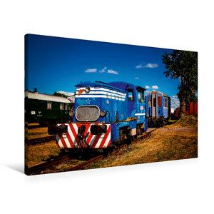 Premium Textil-Leinwand 90 cm x 60 cm quer Lokomotive T 211.0823