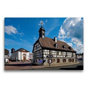 Premium Textil-Leinwand 75 cm x 50 cm quer Altes Rathaus Kelkhei