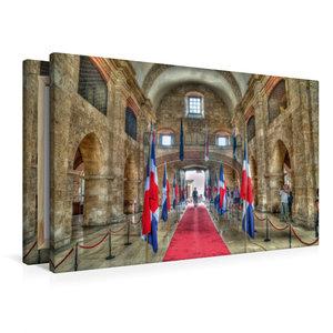 Premium Textil-Leinwand 90 cm x 60 cm quer Panteon Nacional * Na
