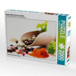 CALVENDO Puzzle Bunter Pfeffer Mix für die Küche 2000 Teile Lege