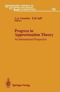 Progress in Approximation Theory