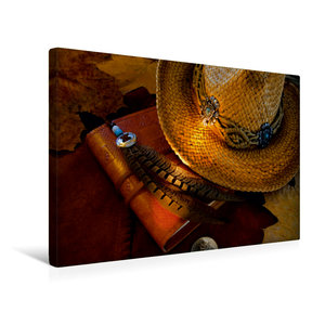 Premium Textil-Leinwand 45 cm x 30 cm quer turn back time