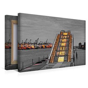 Premium Textil-Leinwand 45 cm x 30 cm quer Dockland