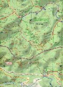 Wander- und Radwanderkarte Schrammsteine, Kirnitzschtal und Umge
