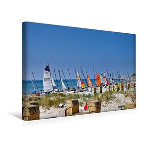 Premium Textil-Leinwand 45 cm x 30 cm quer Strandtag
