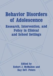Behavior Disorders of Adolescence
