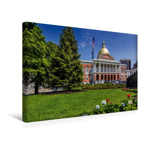 Premium Textil-Leinwand 45 cm x 30 cm quer BOSTON Massachusetts