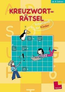 Kreuzworträtsel. Rätselspaß für Kinder (gelb)