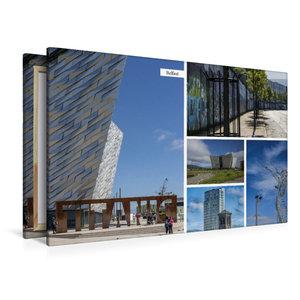 Premium Textil-Leinwand 120 cm x 80 cm quer Belfast