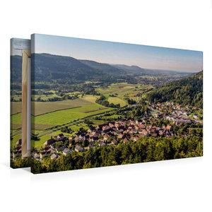 Premium Textil-Leinwand 75 cm x 50 cm quer Blick vom Hummerstein