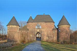 Premium Textil-Leinwand 45 cm x 30 cm quer Burg Vondern in Oberh
