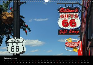 Route 66 in the Southwest (UK-Version) (Wall Calendar 2018 DIN A