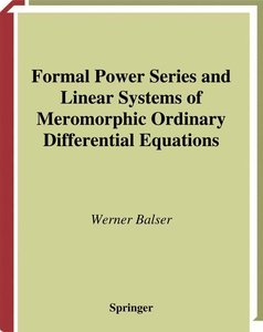 Formal Power Series and Linear Systems of Meromorphic Ordinary D