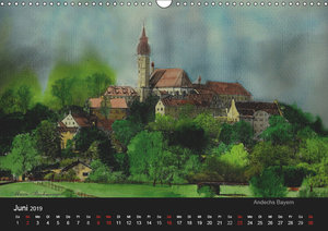 Deutschland in Aquarell (Wandkalender 2019 DIN A3 quer)