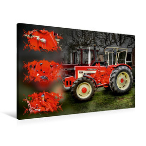 Premium Textil-Leinwand 90 cm x 60 cm quer Oldtimer Traktor McCo