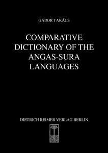 Comparative Dictionary of the Angas-Sura Languages