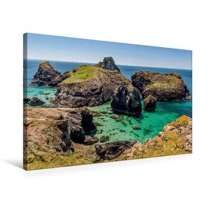 Premium Textil-Leinwand 75 cm x 50 cm quer Kynance Cove in Cornw