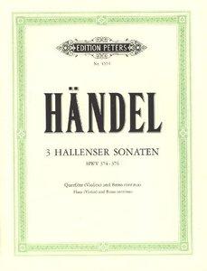 Hallenser Sonaten a-Moll, e-Moll, h-Moll für Flöte (Violine), Ce