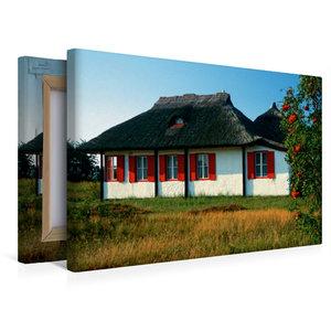 Premium Textil-Leinwand 45 cm x 30 cm quer Haus auf Hiddensee