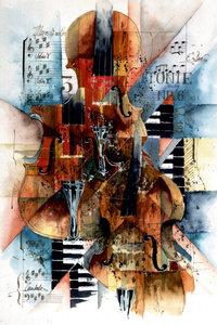 Premium Textil-Leinwand 50 cm x 75 cm hoch Sinphony No 6