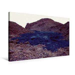 Premium Textil-Leinwand 75 cm x 50 cm quer Erstarrte Lava