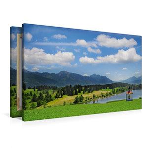 Premium Textil-Leinwand 90 cm x 60 cm quer Im Allgäu