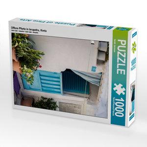 Offene Pforte in Ierapetra, Kreta 1000 Teile Puzzle hoch