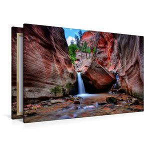 Premium Textil-Leinwand 120 cm x 80 cm quer Kanarra Creek Canyon