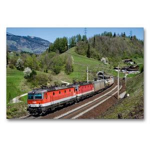 Premium Textil-Leinwand 90 cm x 60 cm quer Güterverkehr am Tauer