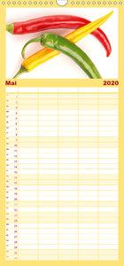 Der vegane Küchenkalender - Familienplaner hoch (Wandkalender 20