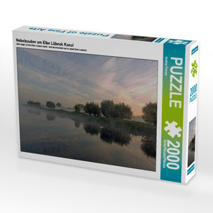 CALVENDO Puzzle Nebelzauber am Elbe Lübeck Kanal 2000 Teile Lege