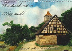 Deutschland in Aquarell (Wandkalender 2019 DIN A4 quer)