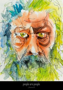 people are people » watercolors by j.benesch (Posterbuch DIN A2