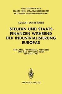 Steuern und Staatsfinanzen während der Industrialisierung Europa
