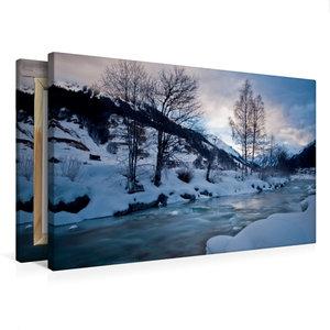 Premium Textil-Leinwand 75 cm x 50 cm quer Frostiger Winter
