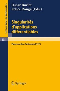 Singularites d'Applications Differentiables