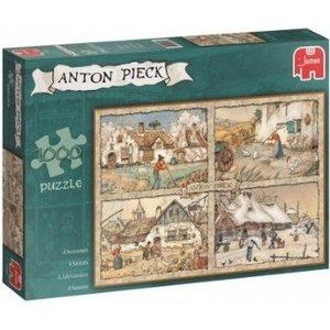 Jumbo 17093 - Anton Pieck 4 Jahreszeite, 1000 Teile