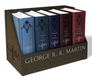 George R. R. Martin's a Game of Thrones Leather Cloth Boxed Set