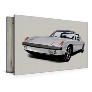 Premium Textil-Leinwand 90 cm x 60 cm quer Porsche 914