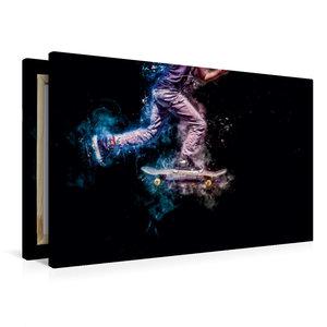 Premium Textil-Leinwand 90 cm x 60 cm quer Skateboarding