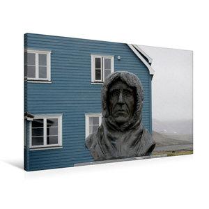 Premium Textil-Leinwand 90 cm x 60 cm quer Statue des erfolgreic