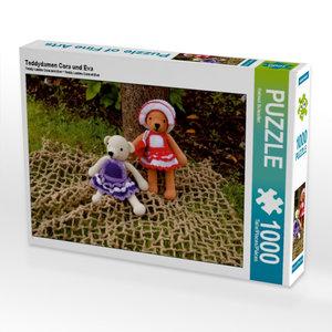 Teddydamen Cora und Eva 1000 Teile Puzzle quer