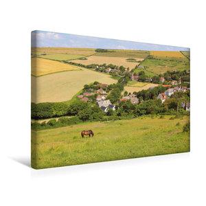 Premium Textil-Leinwand 45 cm x 30 cm quer West Lulworth Dorset